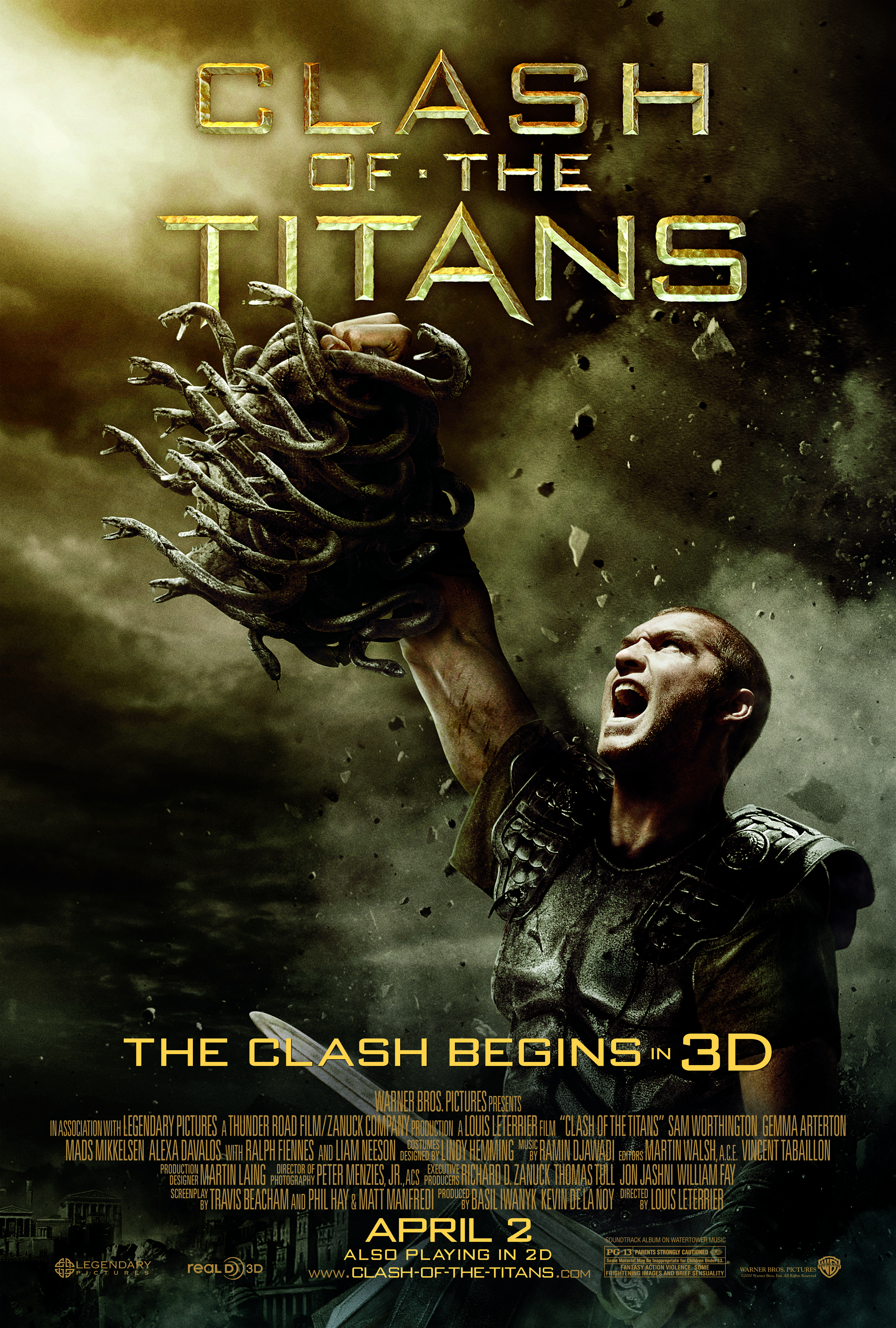 a review of the movie clash of the titans Perseus, son of zeus, embarks on a dangerous quest to save andromeda.
