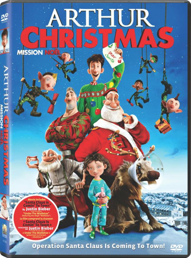 dvdblu ray release arthur christmas arthur christmas dvd cover - Arthur Christmas Dvd