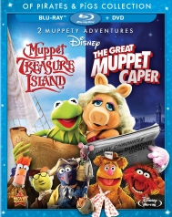 Muppet Treasure Island & The Great Muppet Caper Blu-ray Cover