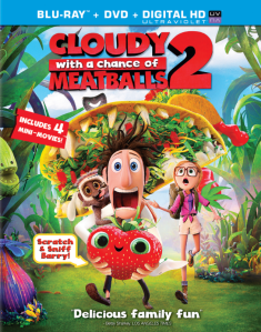 Cloudy With a Chance of Meatballs 2 Blu-ray Cover