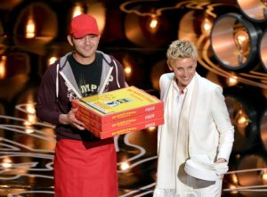 Pizza Delivery Guy and Ellen DeGeneres - Oscars 2014