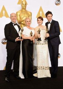 J.K. Simmons, Patricia Arquette, Julianne Moore and Eddie Redmayne - Oscars 2015
